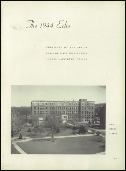 1944 St. Francis High School Yearbook Page 7