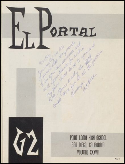 1962 Point Loma High School Yearbook Page 5
