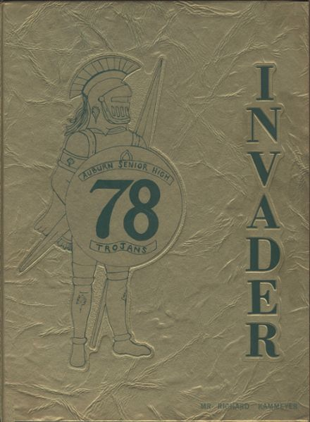 1978 Auburn High School Yearbook Cover