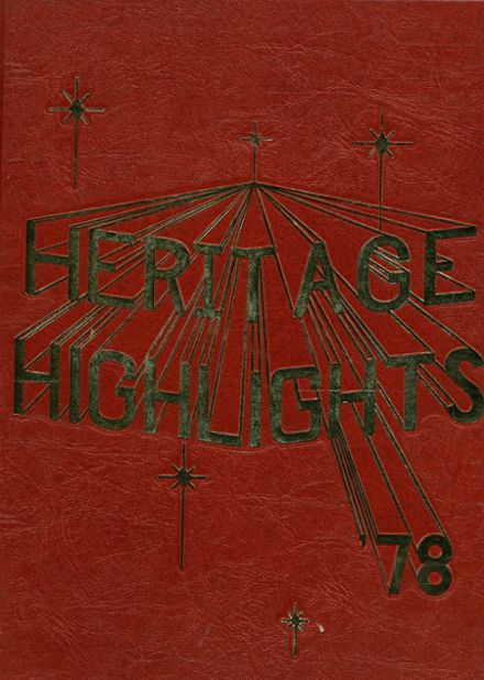 1978 Heritage High School Yearbook Cover