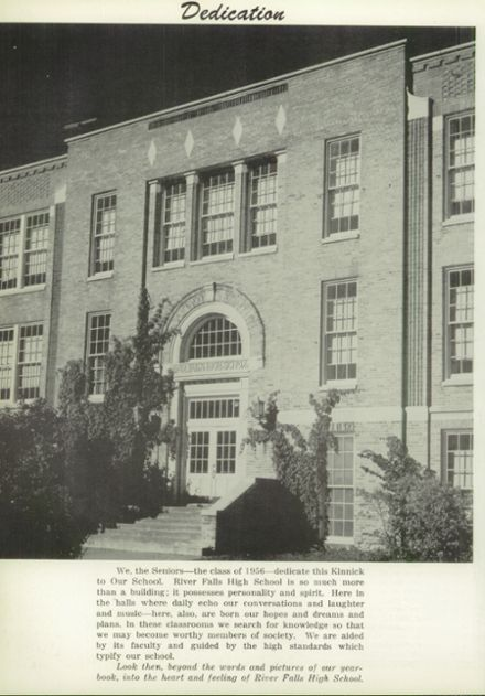 1956 River Falls High School Yearbook Page 8