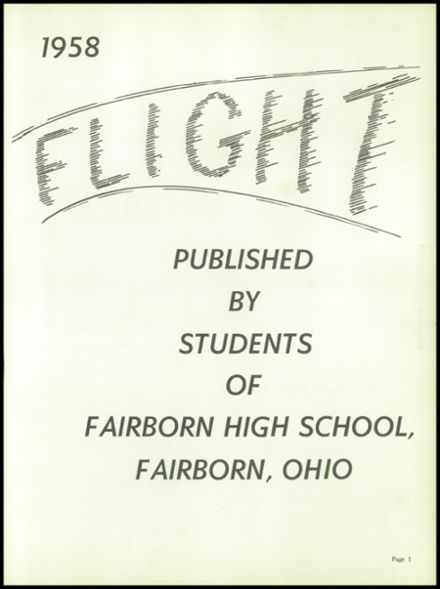 1958 Fairborn High School Yearbook Page 5