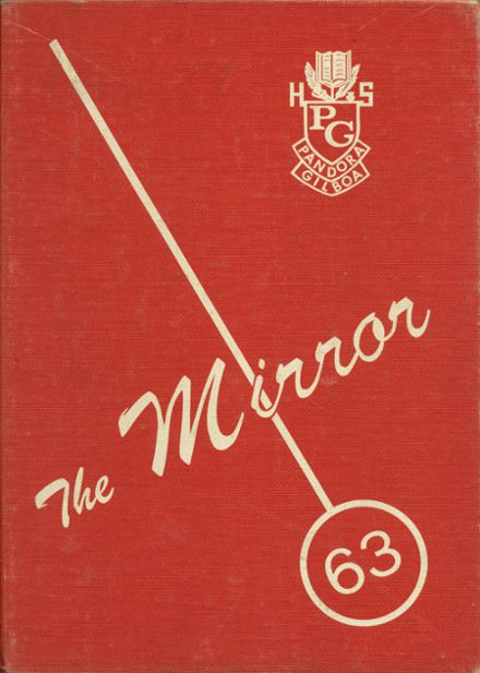 1963 Pandora Gilboa High School Yearbook Cover