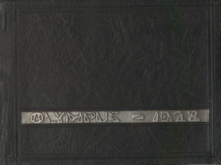 1928 Olympia High School-W.W. Miller High School Yearbook Cover