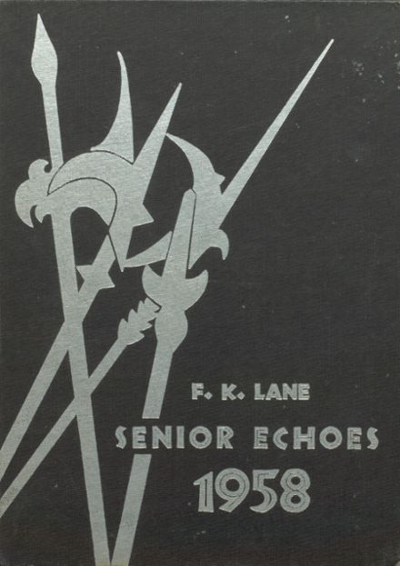 1958 Franklin K. Lane High School Yearbook Cover