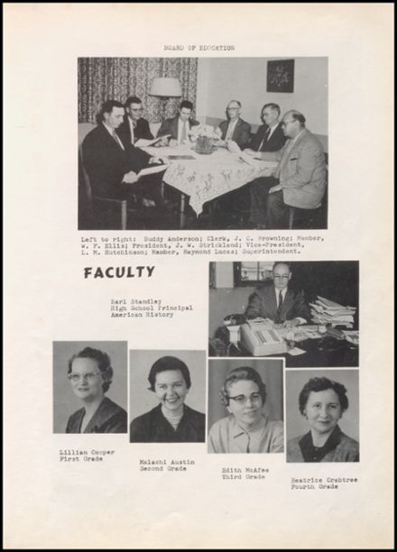 1959 Valliant High School Yearbook Page 9