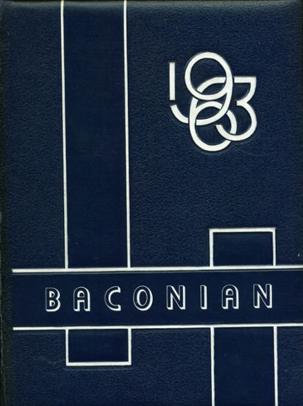 1963 Bacon Academy Yearbook Cover
