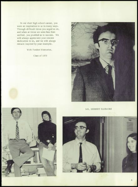 1973 Red Hook High School Yearbook Page 9