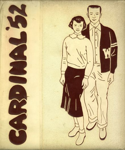 1952 Whittier High School Yearbook Cover