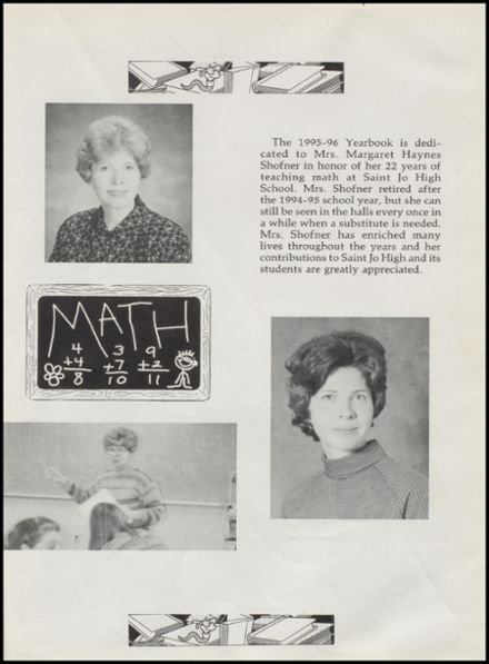 1996 St. Jo High School Yearbook Page 5