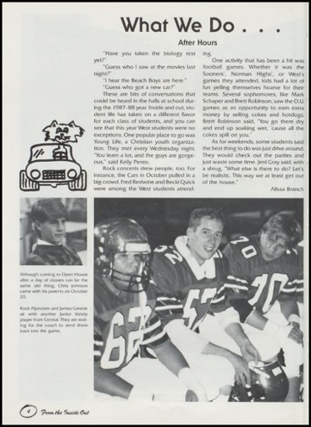 1988 West Mid-High School Yearbook Page 8