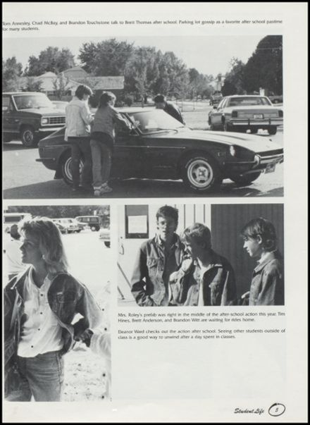 1988 West Mid-High School Yearbook Page 9