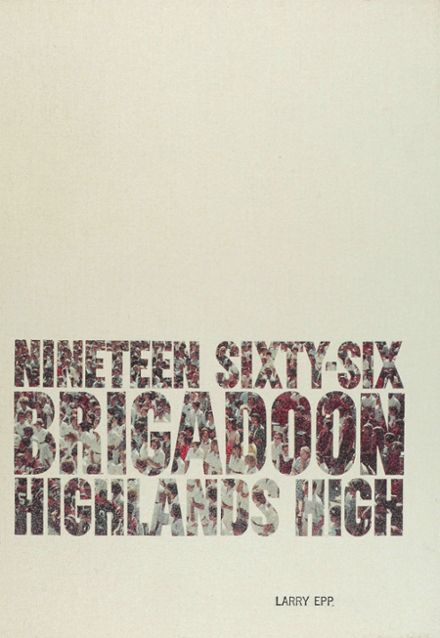 1966 Highlands High School Yearbook Cover
