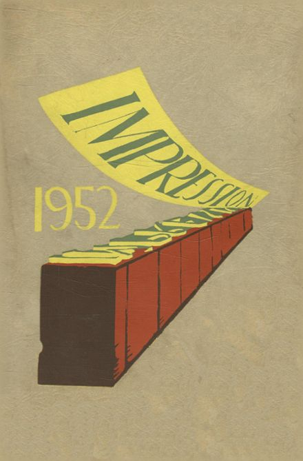 1952 Creative & Performing Arts High School Yearbook Cover