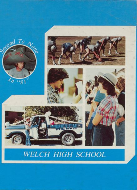 1981 Welch High School Yearbook Cover