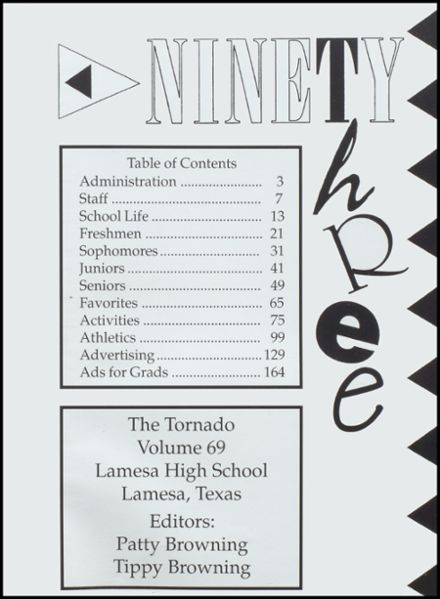 1993 Lamesa High School Yearbook Page 5