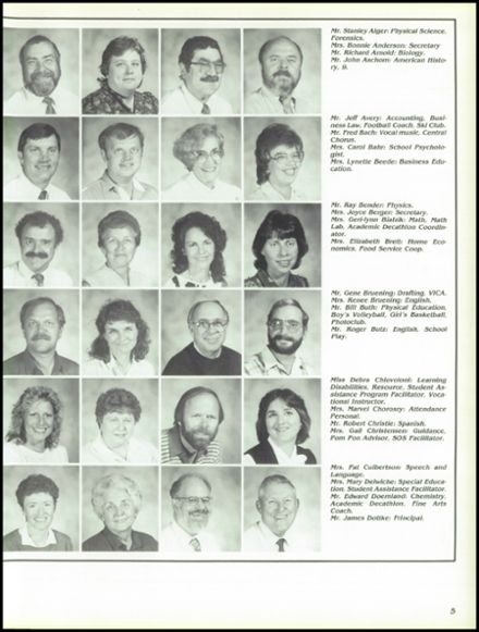 1988 West Allis Central School Yearbook Page 9