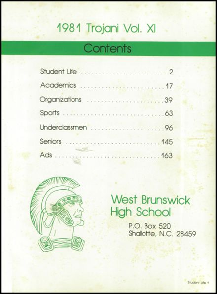 1981 West Brunswick High School Yearbook Page 5