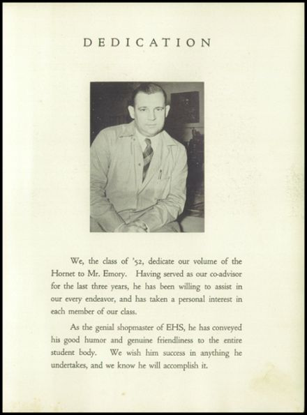 1952 Eureka High School Yearbook Page 9