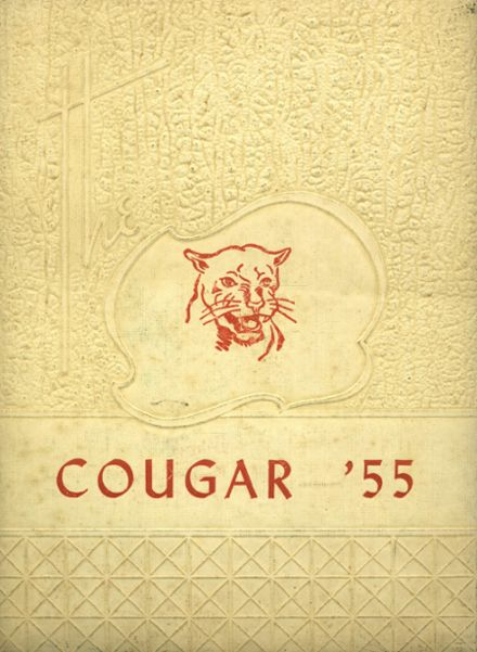 1955 Cale High School Yearbook Cover