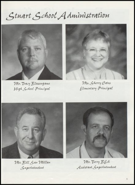 2000 Stuart High School Yearbook Page 9