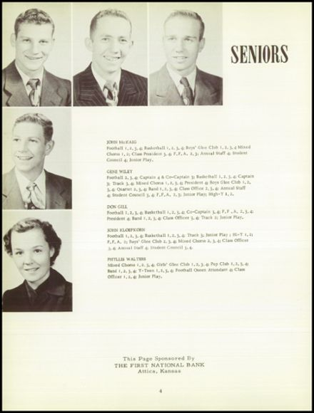 1952 Attica High School Yearbook Page 8