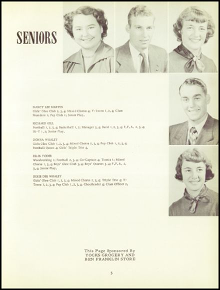 1952 Attica High School Yearbook Page 9