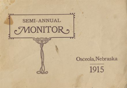 1915 Osceola High School Yearbook Cover