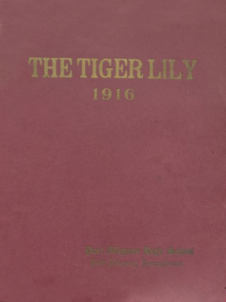 1916 Port Allegany High School Yearbook Cover