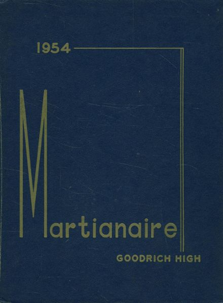 1954 Goodrich High School Yearbook Page 1