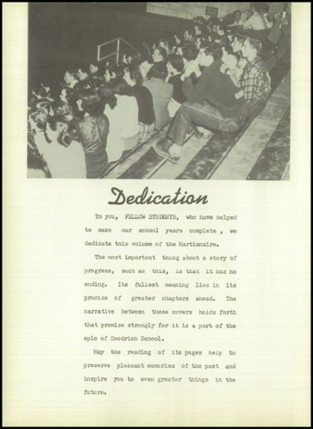 1954 Goodrich High School Yearbook Page 6