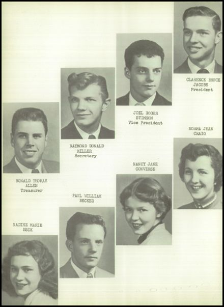 1954 Goodrich High School Yearbook Page 8