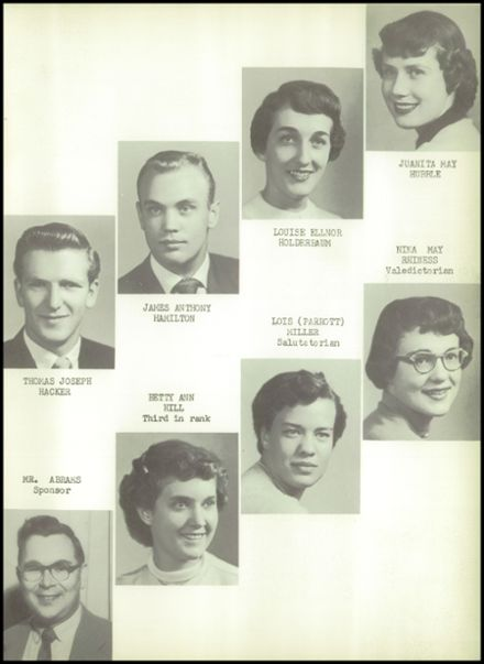1954 Goodrich High School Yearbook Page 9