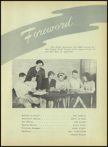 1946 Sanger High School Yearbook Page 9