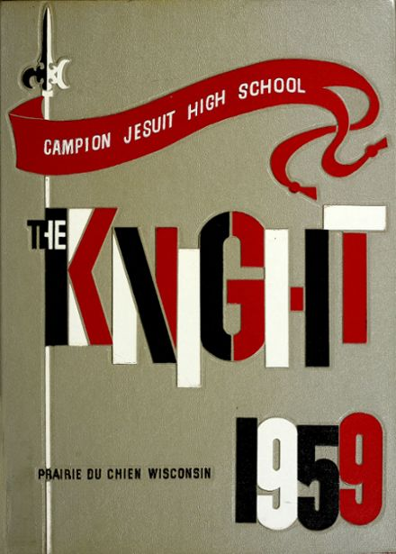 1959 Campion Jesuit High School Yearbook Cover