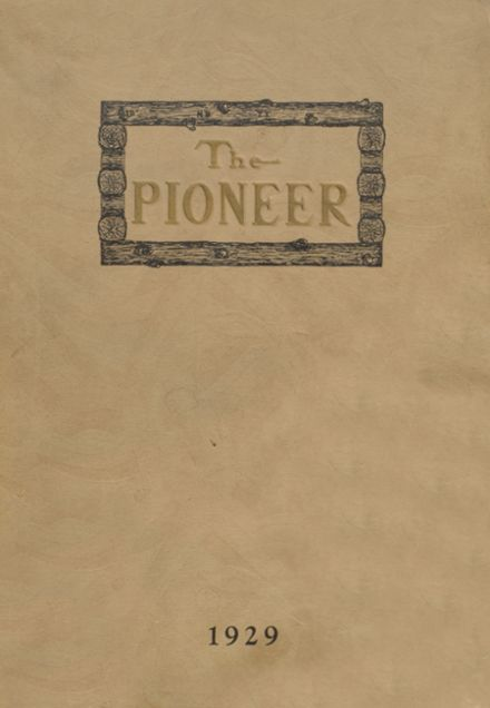 1929 Boonville High School Yearbook Cover