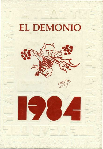 1984 Dysart High School Yearbook Cover