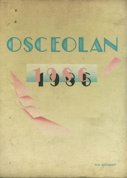 1986 Osceola High School Yearbook Cover