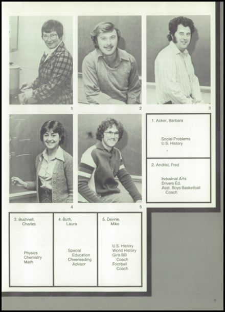 1982 Rib Lake High School Yearbook Page 9