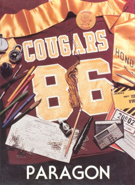 1986 Oakton High School Yearbook Cover