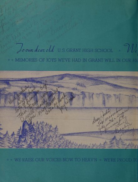 1947 Grant High School Yearbook Page 2