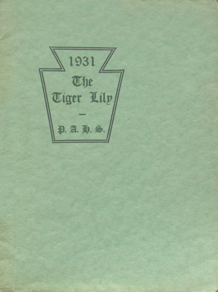 1931 Port Allegany High School Yearbook Cover