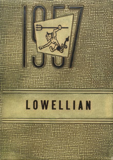 1957 Lowell High School Yearbook Cover