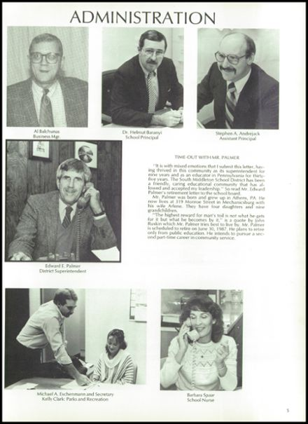 1987 Boiling Springs High School Yearbook Page 9