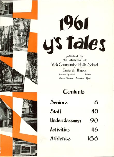 1961 York Community High School Yearbook Page 5
