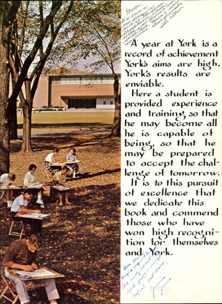 1961 York Community High School Yearbook Page 7
