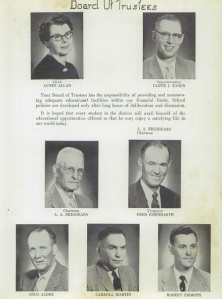 1957 Weiser High School Yearbook Page 9