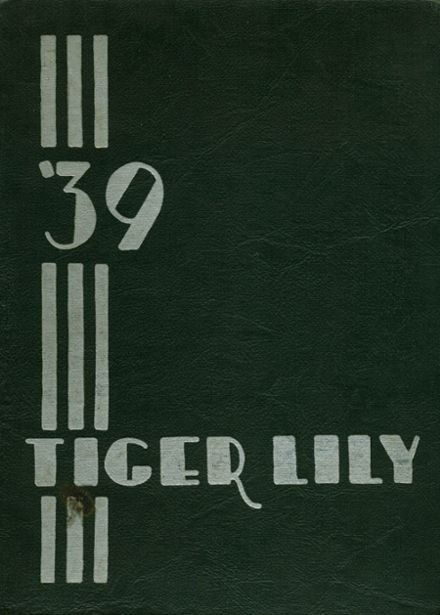 1939 Port Allegany High School Yearbook Cover