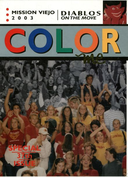 2003 Mission Viejo High School Yearbook Cover