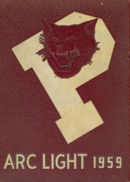 1959 Palestine High School Yearbook Cover